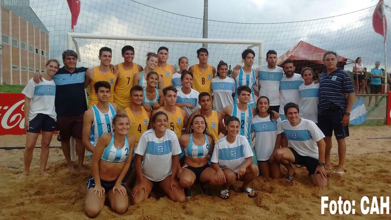 Gran actuación argentina en el beach handball