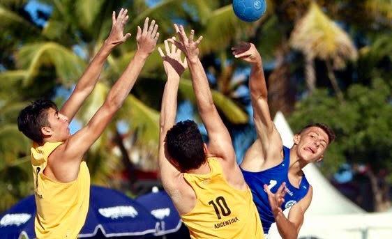 El beach handball argentino a paso firme